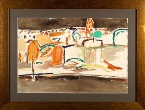 Tadeusz DOMINIK - Zeichnung Aquarell - Composition