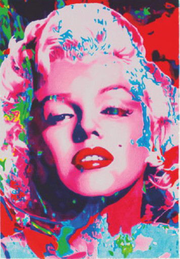 James Francis GILL - Stampa Multiplo - Pink Marilyn