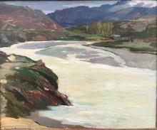 Charles SWYNCOP - Pintura - LA BIDASSOA, PAYS BASQUE