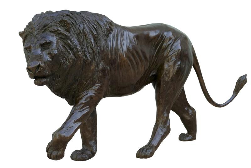 Damien COLCOMBET - Sculpture-Volume - Grand lion marchant