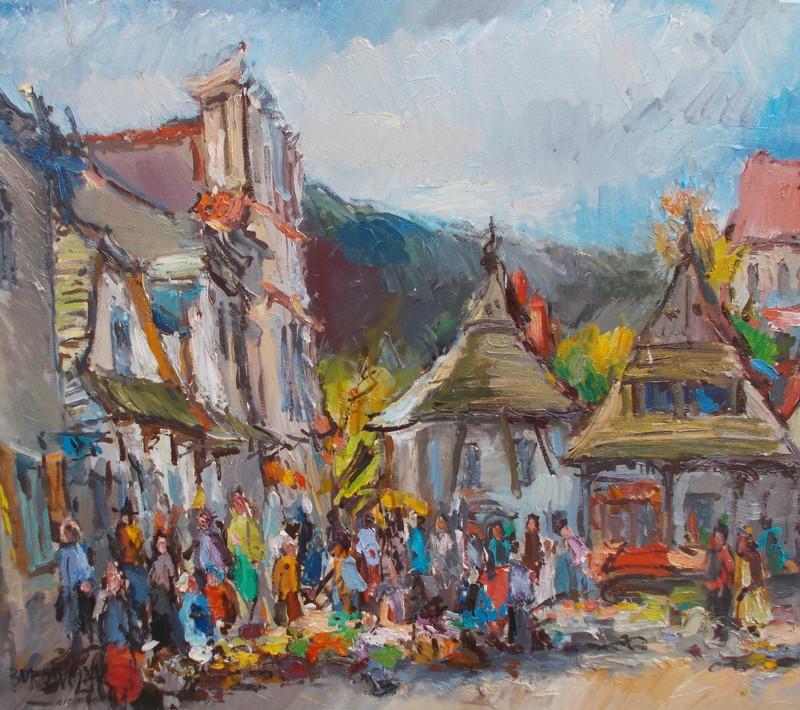 Woldzimierz BOROWCZYK - Painting - Le marché
