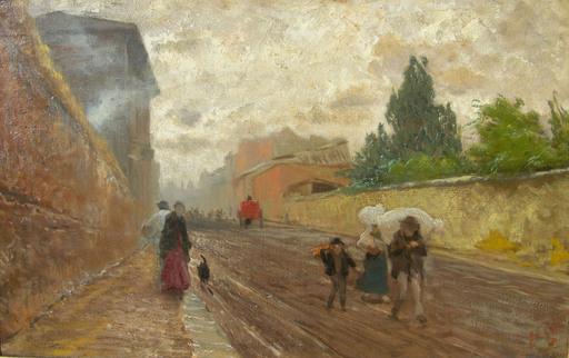 Pio JORIS - Pintura - la via flaminia