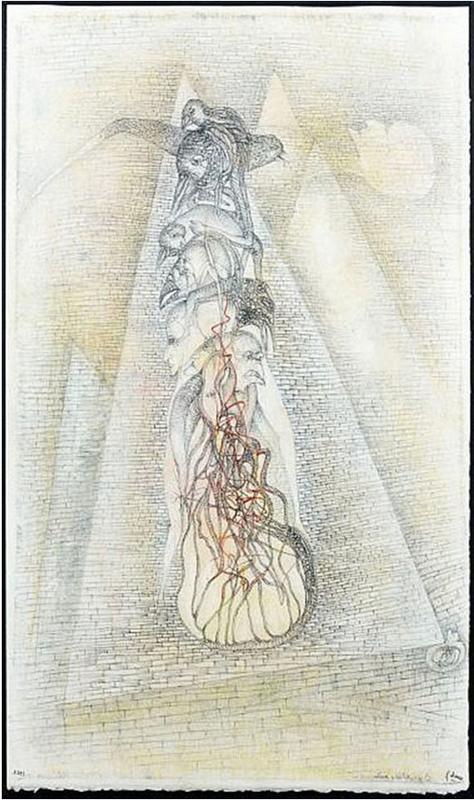 Fred DEUX - Dibujo Acuarela - Les voyants