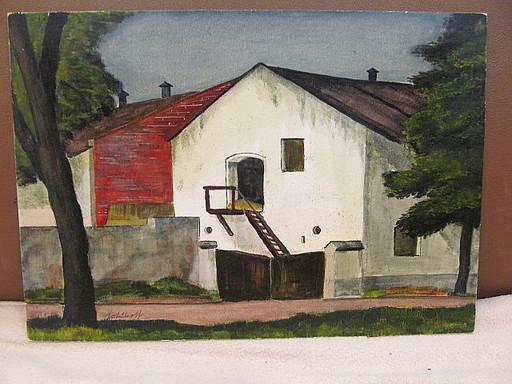 Walter KOHLHOFF - Pittura - Heuschober in Landschaft