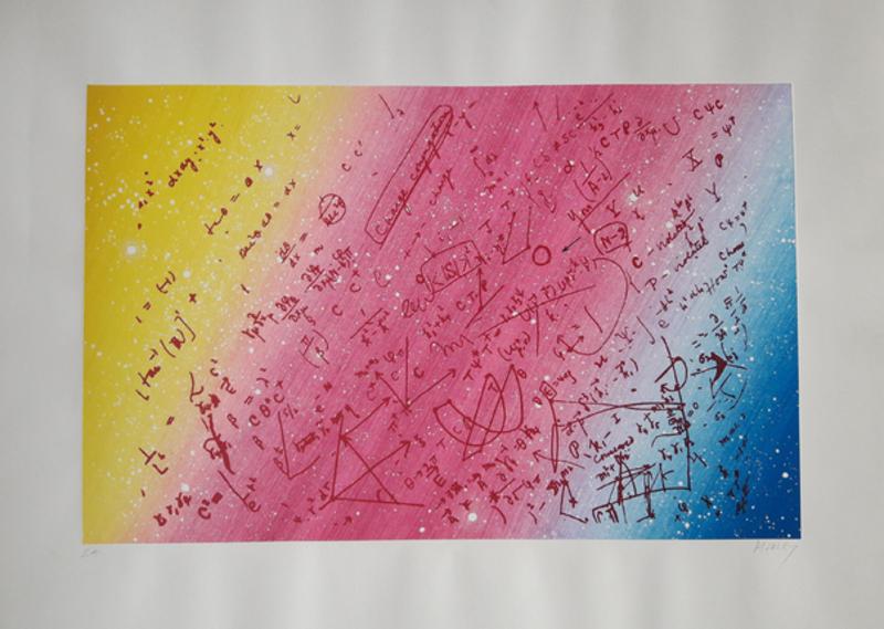 Jacques MONORY - Print-Multiple - Fouillis mathématique pour un univers en enroulement torsadé