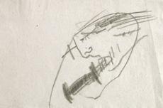 Antoni TAPIES - Drawing-Watercolor - Projecte núm. 3