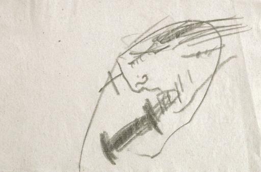 Antoni TAPIES - Zeichnung Aquarell - Projecte núm. 3