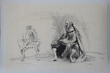Hans FALK - Dibujo Acuarela - Audience