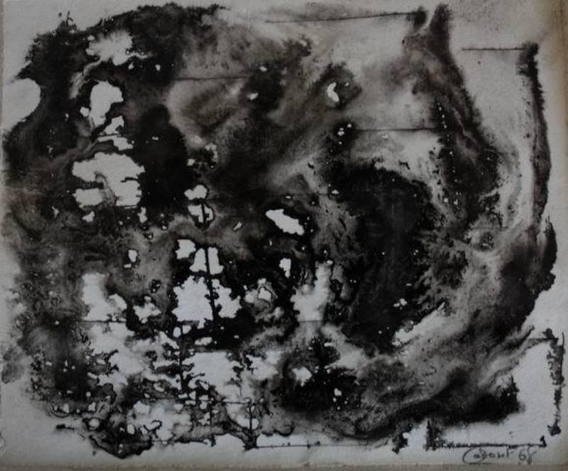 Michel CADORET - Drawing-Watercolor - Composition 68