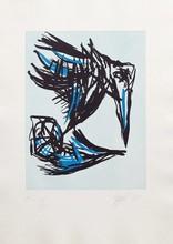 卡尔-阿佩尔 - 版画 - Los Pájaros