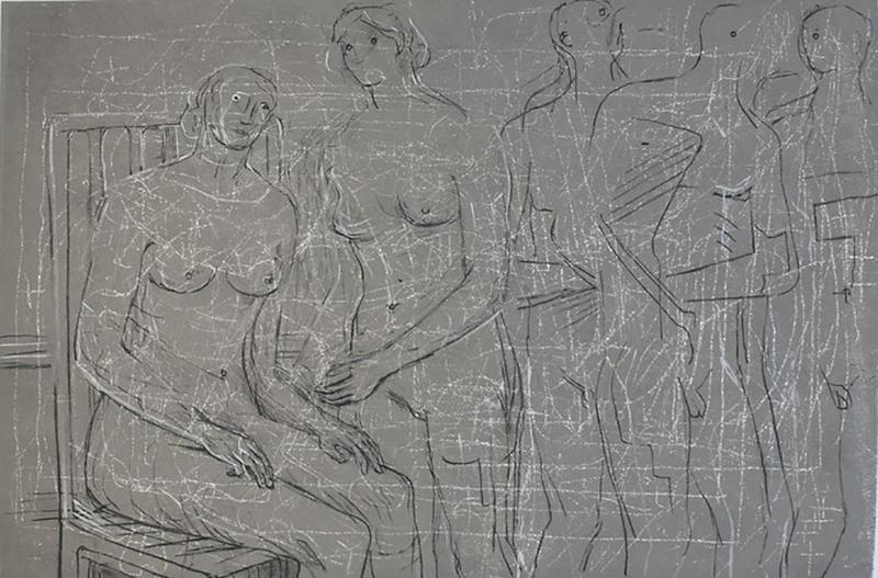 Henry MOORE - Druckgrafik-Multiple - Group of Figures