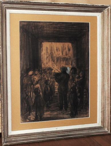 """Théophile Alexandre STEINLEN - Drawing-Watercolor - """"Le violoniste de Paris"""""""