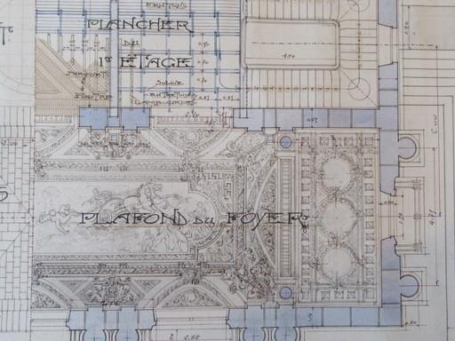 Léon JAUSSELY - Drawing-Watercolor - Projet d'architecture