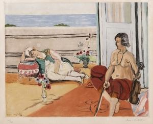 Henri MATISSE, Odalisque sur la Terrasse