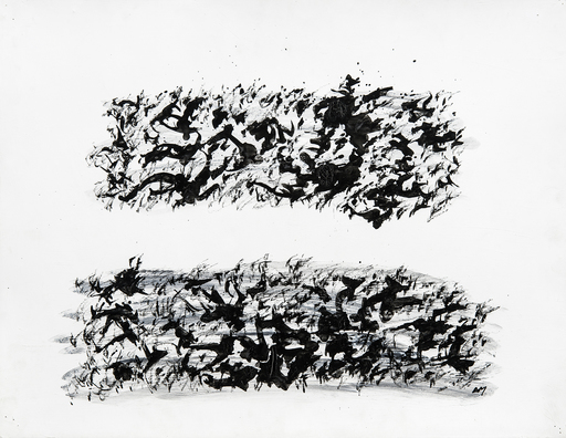 Henri MICHAUX - Drawing-Watercolor - sans titre