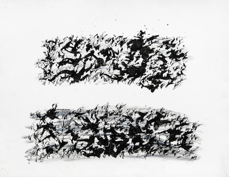 Henri MICHAUX - Zeichnung Aquarell - sans titre