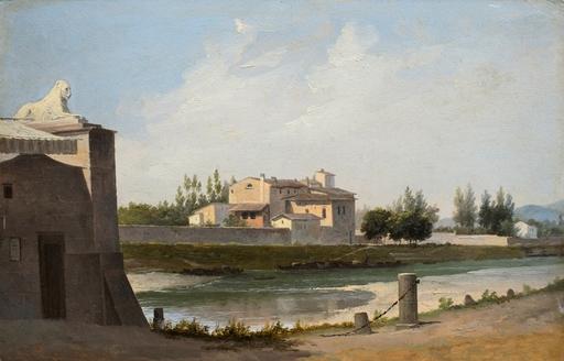Domenico BRESOLIN - Pintura - Riva d'Arno a Firenze