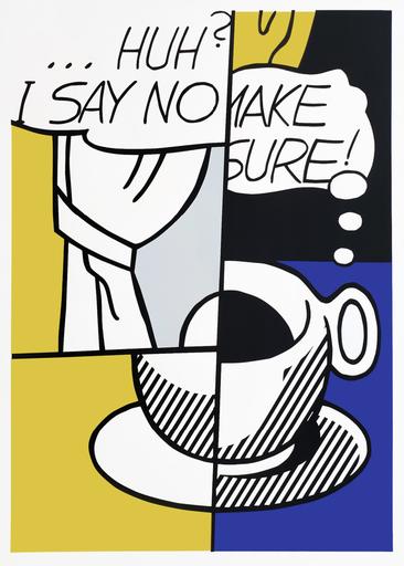 罗伊•利希滕斯坦 - 版画 - ... Huh?