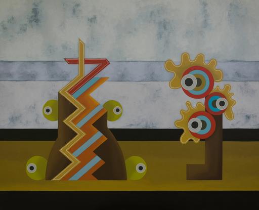 Enrique Rodriguez GUZPENA - Painting - El llanto y los frutos