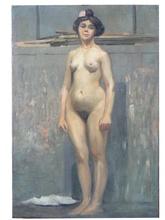 Henri PAILLER (1876-1954) - Nu debout