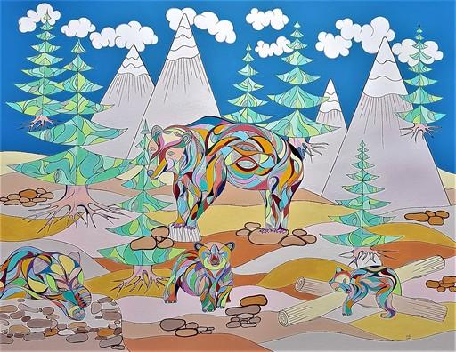 Monique BERTINA - Peinture - Les ours