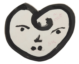 Henri MATISSE - Dessin-Aquarelle - Cœur-visage