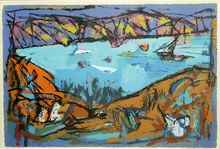 Marcel JANCO - Print-Multiple - The Lake of Gallile