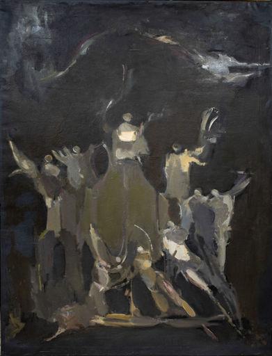 Alfred ABERDAM - Gemälde - Angels and Ridders, 1957