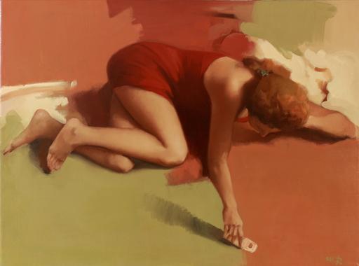 Michael RAPOPORT - Pittura - A Girl lying