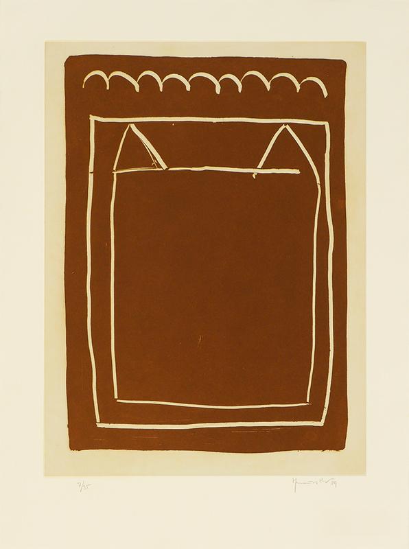 Joan HERNANDEZ PIJUAN - Estampe-Multiple - La casa desde la que se divisa el campo IV