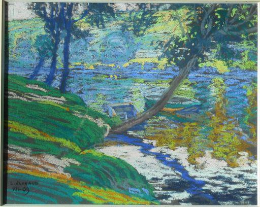 Léon JOUHAUD - Drawing-Watercolor - bords de VIENNE à LIMOGES