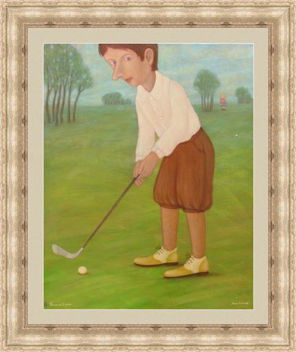Roman ANTONOV - Peinture - Plays golf