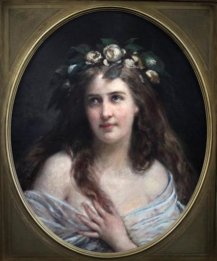 Gustav Julius GRÜN - Pintura - Portrait dame Art Nouveau