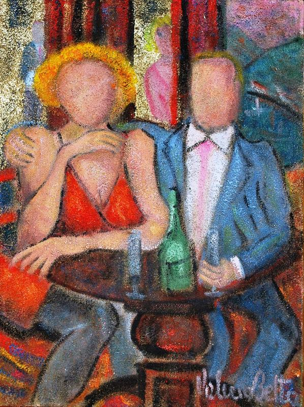 Valerio BETTA - Painting - Coppia intercettata