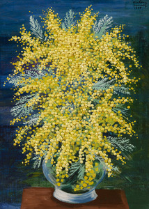 Moïse KISLING - Painting - Mimosas