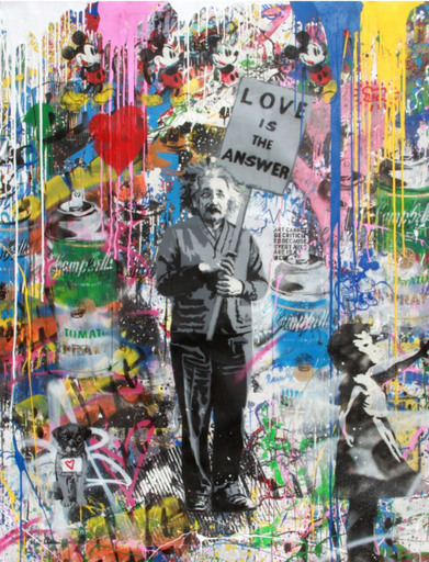 MR BRAINWASH - Pintura - Albert Einstein