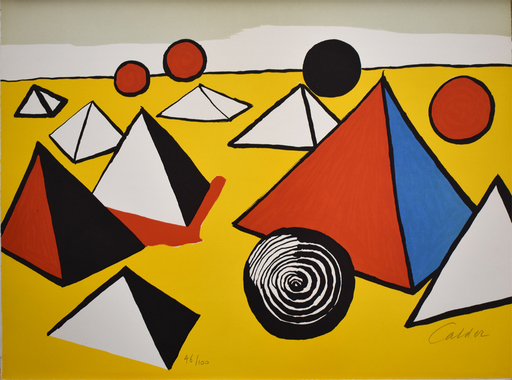 Alexander CALDER - Stampa Multiplo -  Composition VI, from The Elementary Memory | La mémoire élé