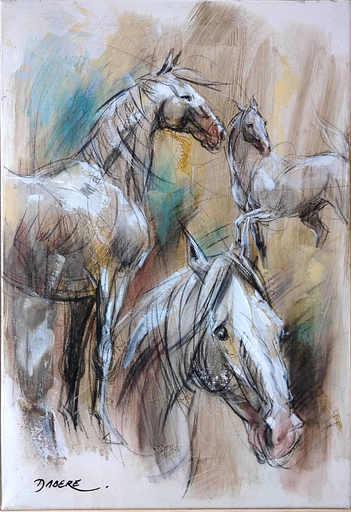 Pascal DABÈRE - Gemälde - Le Cheval Blanc