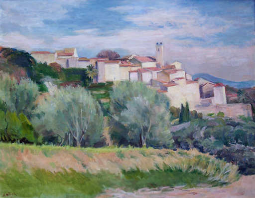 Adolphe MILICH - Painting - Chateauneuf