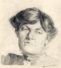 Eugen Alfons VON BLAAS - Drawing-Watercolor - Porträt einer Dame