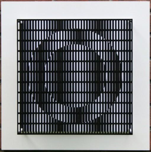 Antonio ASIS - Grabado - vibration cercles noir et blanc