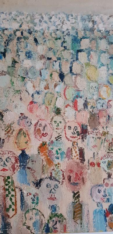 Michel DELAQUAIZE - Pintura - la foule