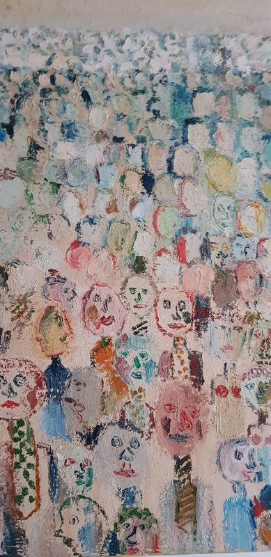 Michel DELAQUAIZE - Pittura - la foule