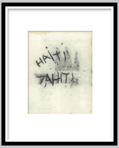 Jean-Michel BASQUIAT - Dibujo Acuarela - HAITI TAHITI (double-sided)