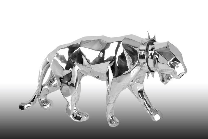 Richard ORLINSKI - Sculpture-Volume - PANTHER WILD NECK ALUMINIUM