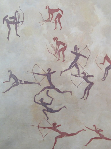 Georges LE POITEVIN - Pittura - Rupestre du Tassili