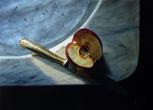 Riccardo GIRAUDO - Pintura - Mela e coltello
