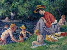 Maximilien LUCE (1858-1941) - La Baignade dans la Cure