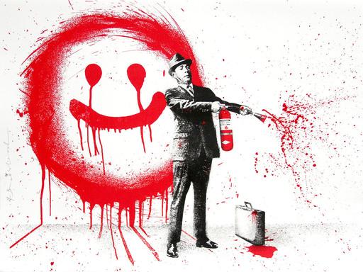 MR BRAINWASH - Print-Multiple - Spray Happiness Red