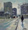 Valeriy NESTEROV - Pintura - Bolshaya Andronievskaya street. Moscow